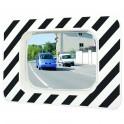 Miroir de circulation rectangulaire Polymir - 600 x 400 mm