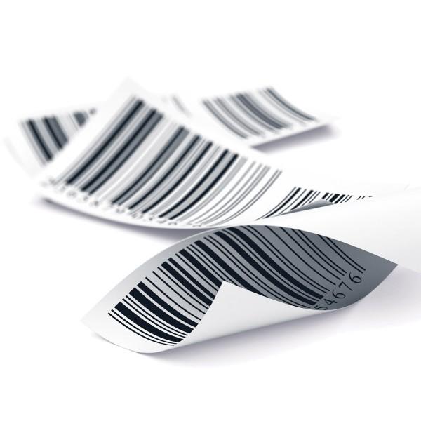 Étiquettes à Code-Barre Personnalisables en Papier Laminé