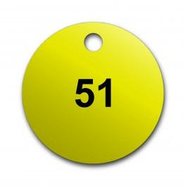 Marqueurs de Vannes Ronds Colorés en Gravoply Pré-numérotés