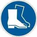 """Pictogramme adhésif antidérapant """"Chaussures de sécurité obligatoires"""""""