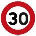 Panneau de Prescription B14 : Limitation de Vitesse à 30 km/h