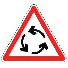 Panneau d'Intersection AB25 : Carrefour à Sens Giratoire