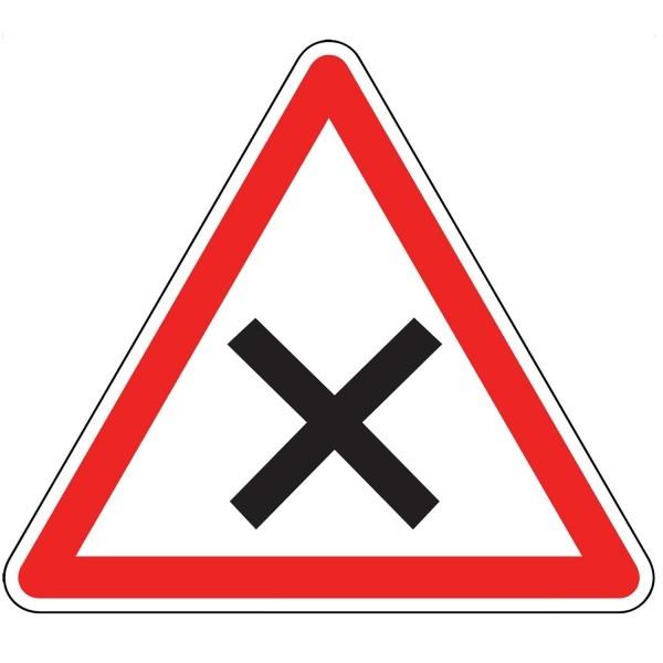 Panneau d'Intersection AB1 : Priorité à Droite