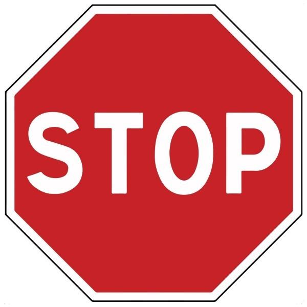 Panneau d'Intersection AB4 : STOP