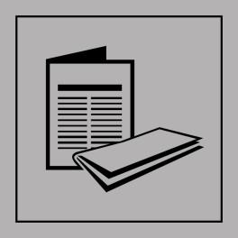 Pictogramme d'Information ISO 7001 Kiosque à journaux en Gravoply 125 x 125 mm Noir sur Blanc