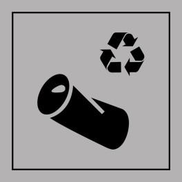 Pictogramme d'Information ISO 7001 Recyclage - canette en Gravoply 125 x 125 mm Noir sur Blanc