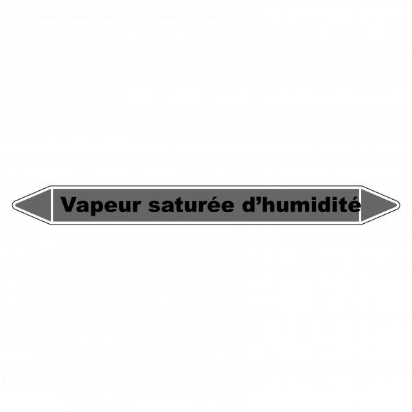 """Marqueur de Tuyauterie """"Vapeur saturée d'humidité"""" en Vinyle Laminé"""