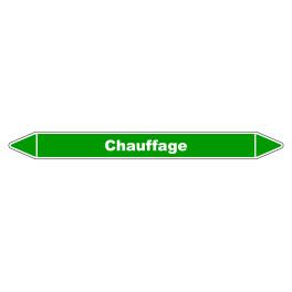 "Marqueur de Tuyauterie ""Chauffage"" en Vinyle Laminé"