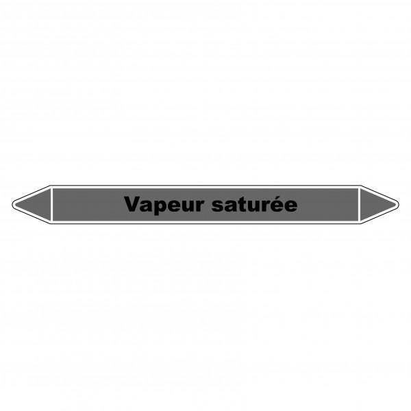 """Marqueur de Tuyauterie """"Vapeur saturée"""" en Vinyle Laminé"""