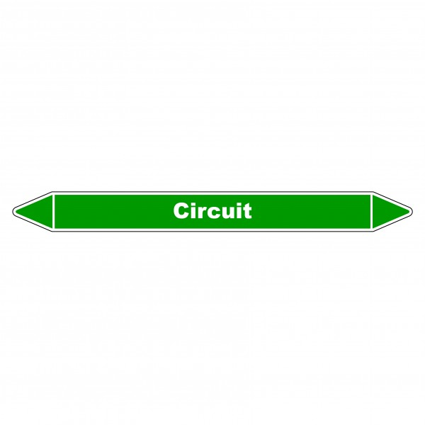 "Marqueur de Tuyauterie ""Circuit"" en Vinyle Laminé"