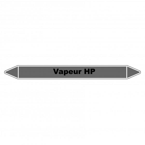"""Marqueur de Tuyauterie """"Vapeur HP"""" en Vinyle Laminé"""