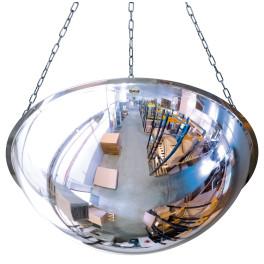 Miroir hémisphérique horizontal de sécurité - 1/2 - Polycarbonate - 3 tailles