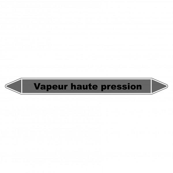 """Marqueur de Tuyauterie """"Vapeur haute pression"""" en Vinyle Laminé"""