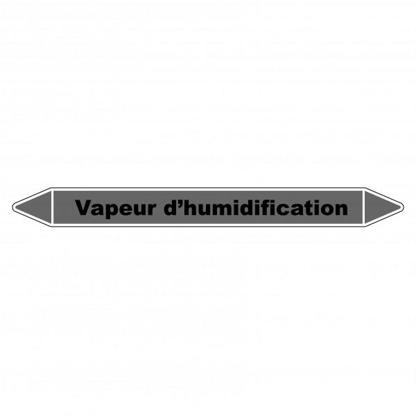 """Marqueur de Tuyauterie """"Vapeur d'humidification"""" en Vinyle Laminé"""
