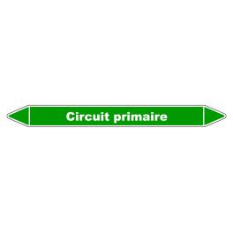 """Marqueur de Tuyauterie """"Circuit primaire"""" en Vinyle Laminé"""