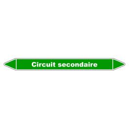 Marqueur de Tuyauterie Circuit secondaire 150 x 12 mm Vinyle Laminé