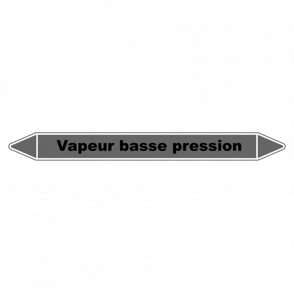 """Marqueur de Tuyauterie """"Vapeur basse pression"""" en Vinyle Laminé"""
