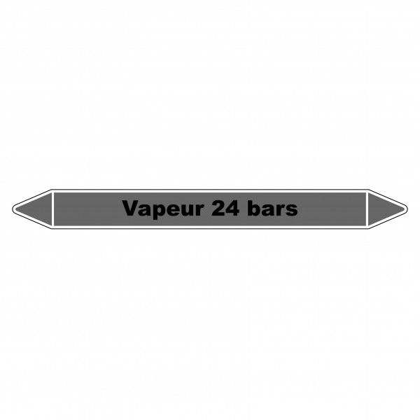 """Marqueur de Tuyauterie """"Vapeur 24 bars"""" en Vinyle Laminé"""