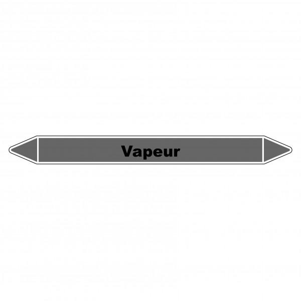 """Marqueur de Tuyauterie """"Vapeur"""" en Vinyle Laminé"""