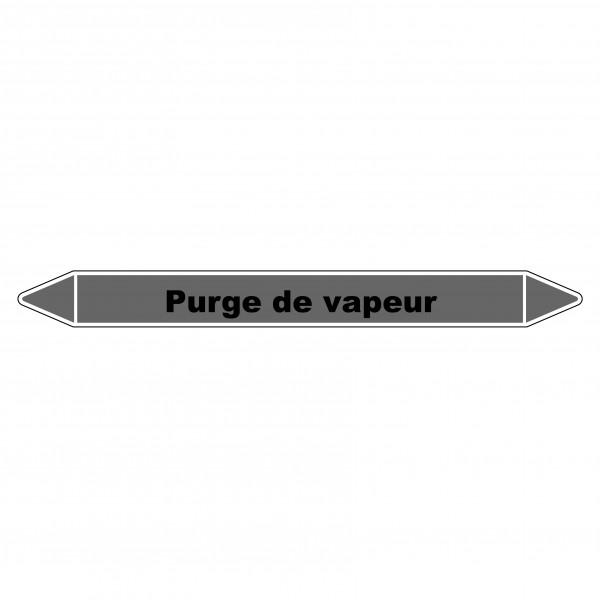 """Marqueur de Tuyauterie """"Purge de vapeur"""" en Vinyle Laminé"""