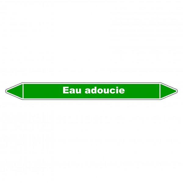 """Marqueur de Tuyauterie """"Eau adoucie"""" en Vinyle Laminé"""