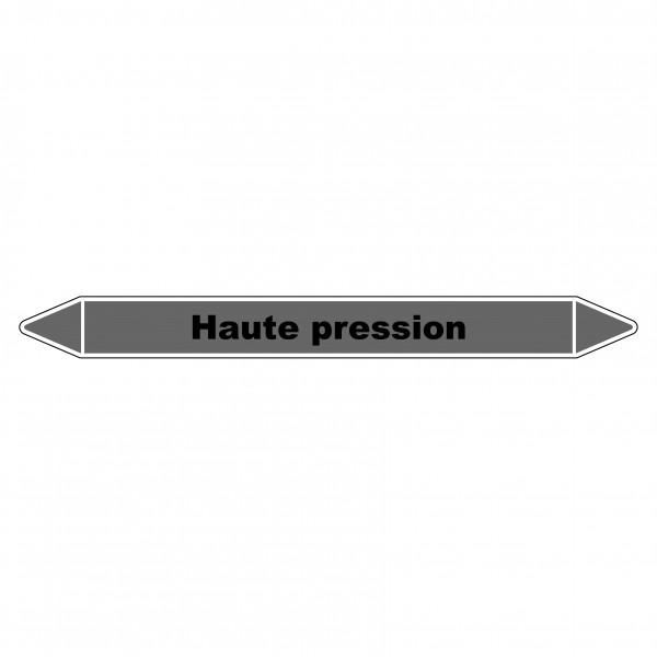 """Marqueur de Tuyauterie """"Haute pression"""" en Vinyle Laminé"""