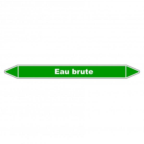 """Marqueur de Tuyauterie """"Eau brute"""" en Vinyle Laminé"""