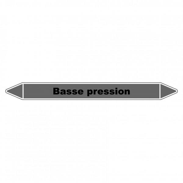 """Marqueur de Tuyauterie """"Basse pression"""" en Vinyle Laminé"""