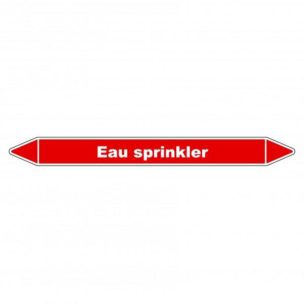"Marqueur de Tuyauterie ""Sprinkler"" en Vinyle Laminé"