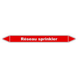Marqueur de Tuyauterie Réseau sprinkler 150 x 12 mm Vinyle Laminé