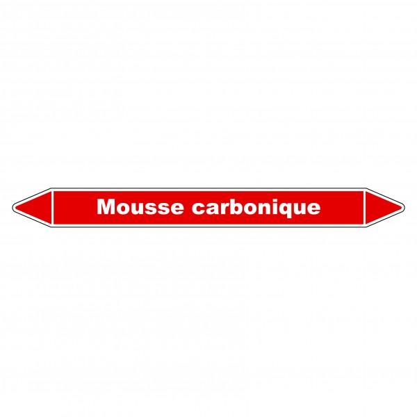 """Marqueur de Tuyauterie """"Mousse carbonique"""" en Vinyle Laminé"""