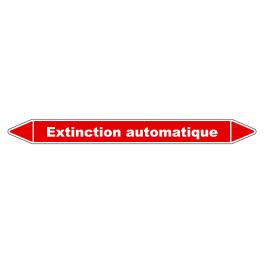 """Marqueur de Tuyauterie """"Extinction automatique"""" en Vinyle Laminé"""