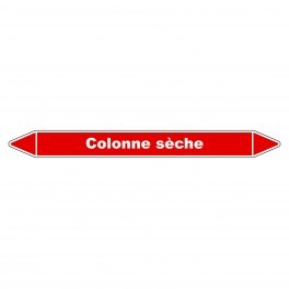 """Marqueur de Tuyauterie """"Colonne sèche"""" en Vinyle Laminé"""