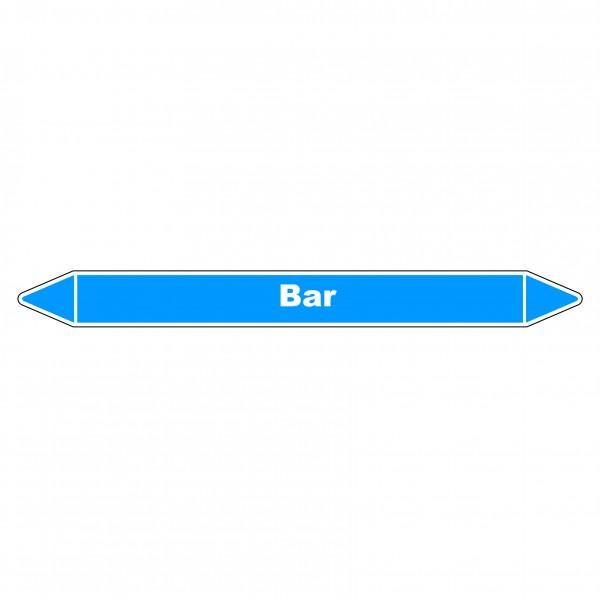 """Marqueur de Tuyauterie """"Bar"""" en Vinyle Laminé"""