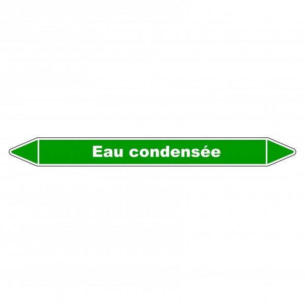 """Marqueur de Tuyauterie """"Eau condensée"""" en Vinyle Laminé"""