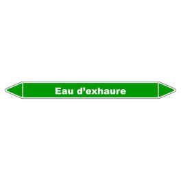 """Marqueur de Tuyauterie """"Eau d'exhaure"""" en Vinyle Laminé"""