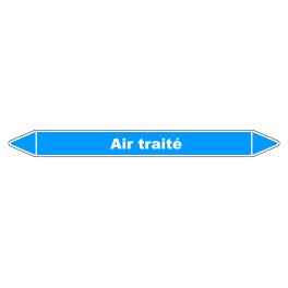"""Marqueur de Tuyauterie """"Air traité"""" en Vinyle Laminé"""