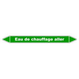 "Marqueur de Tuyauterie ""Eau de chauffage aller"" en Vinyle Laminé"