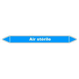 """Marqueur de Tuyauterie """"Air stérile"""" en Vinyle Laminé"""