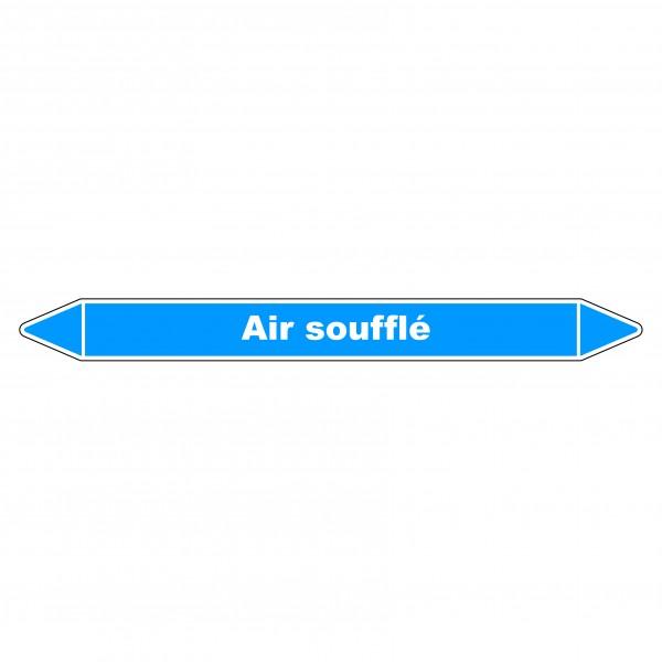 """Marqueur de Tuyauterie """"Air soufflé"""" en Vinyle Laminé"""
