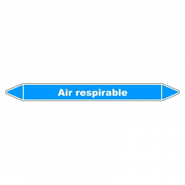 """Marqueur de Tuyauterie """"Air respirable"""" en Vinyle Laminé"""