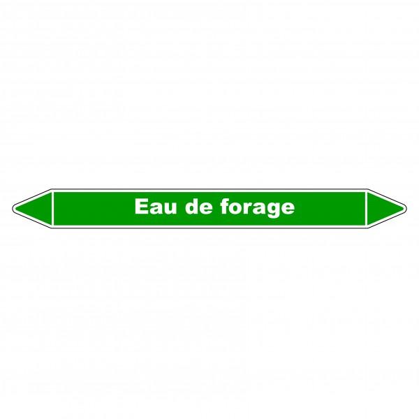 """Marqueur de Tuyauterie """"Eau de forage"""" en Vinyle Laminé"""