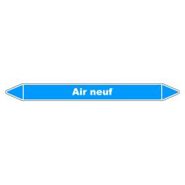 """Marqueur de Tuyauterie """"Air neuf"""" en Vinyle Laminé"""