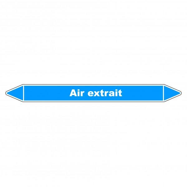 """Marqueur de Tuyauterie """"Air extrait"""" en Vinyle Laminé"""