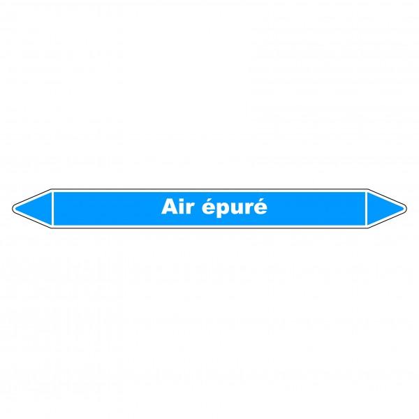 """Marqueur de Tuyauterie """"Air épuré"""" en Vinyle Laminé"""