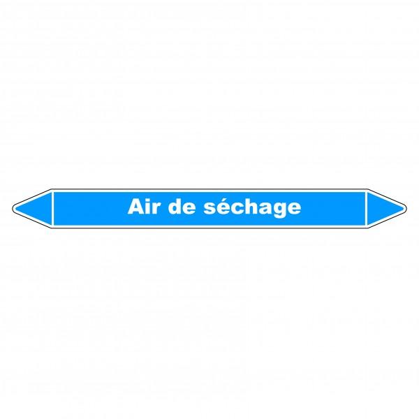 """Marqueur de Tuyauterie """"Air de séchage"""" en Vinyle Laminé"""