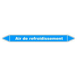 """Marqueur de Tuyauterie """"Air de refroidissement"""" en Vinyle Laminé"""