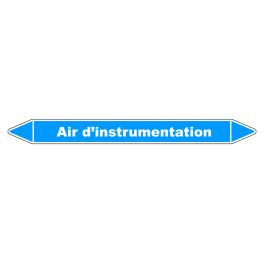 """Marqueur de Tuyauterie """"Air d'instrumentation"""" en Vinyle Laminé"""