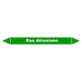 """Marqueur de Tuyauterie """"Eau déionisée"""" en Vinyle Laminé"""