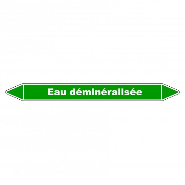 """Marqueur de Tuyauterie """"Eau déminéralisée"""" en Vinyle Laminé"""